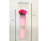 Мыло Роза, цвет малиновый