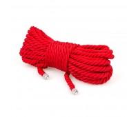 Веревка для бондажа Premium Silky 10M Red