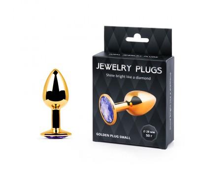 GOLDEN PLUG SMALL (втулка анальная) цвет кристалла светло-филетовый, L 72 мм, D 28 мм, вес 50г