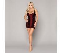 Эротическое бордовое платье
