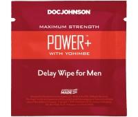 Пролонгирующая салфетка Doc Johnson Power+ Delay Wipe For Men с экстрактом йохимбе