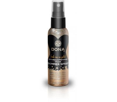 Спрей для тела с блестками DONA Shimmer Spray Gold (60 мл)