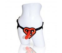 Страпон Sportsheets - Heart Harness and Dildo Kit