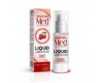 Лубрикант с эффектом вибрации Amoreane Med Liquid Vibrator Cherry (30 мл)