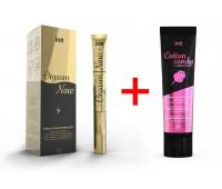 INTT Promo 1: Жидкий вибратор Orgasm Now (15 мл) + смазка Cotton Candy (100 мл)