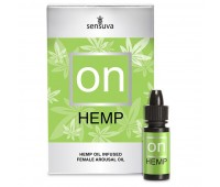 Возбуждающе масло Sensuva - ON for Her Hemp Infused Arousal Oil (5 мл)