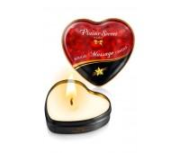 Массажная свеча сердечко Plaisirs Secrets Vanilla (35 мл)