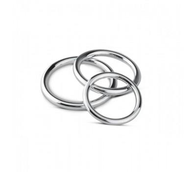 Набор эрекционных колец Sinner Gear Unbendable - Cock/Ball Ring & Glans Ring Set