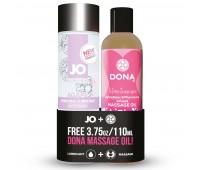 Подарочный набор System JO Limited Edition Promo Pack - Jo Agape (120мл) + DONA Flirty Massage (110)