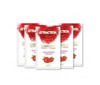 Пробник лубриканта с феромонами MAI ATTRACTION LUBS STRAWBERRY (10 мл)