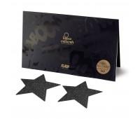 Украшение на соски Bijoux Indiscrets - Flash Star Black